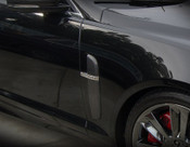 JAGUAR XF & XFR REAL CARBON FIBER FENDER FINISHER SET 2007-2011 models