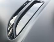 Jaguar F-Type Carbon Fiber Hood Louver Insert Overlay Set 2011-2016