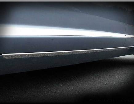 Jaguar XF & XFR Bright Stainless Rocker Trim Set