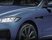 Jaguar F-Pace Black Fender Louver Replacement Set