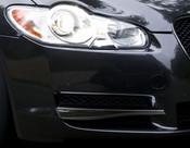 Jaguar XF 2008-2011 Black Bumper Side Grille Splitter Replacement Set