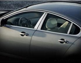 Jaguar XF & XFR Chrome Pillar Finishers (2012- Newer)