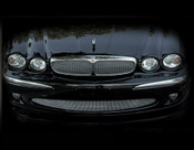 Jaguar X-Type Lower Mesh Grille Kit (Bright stainless or Black)