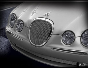 Jaguar S-Type Mesh Grille Insert (Bright stainless or Black)
