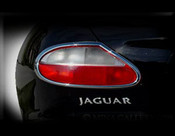 Jaguar XK8 & XKR Chrome Taillight Trim Finisher set