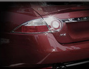 Jaguar XK & XKR Chrome Taillight Trim Surrounds
