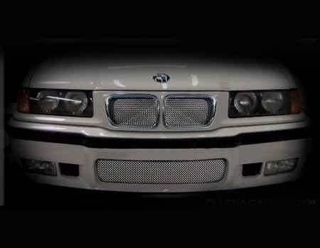 BMW M3 Lower Mesh Grille Black or Bright Stainless 91-1998
