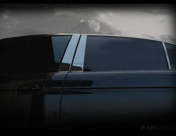 Mercedes E-class Chrome Pillar 6 pcs Finisher set 2003-2009