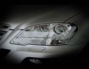 Mercedes ML Headlight Chrome Trim Finisher set 2006-2008