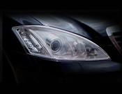 Mercedes S-Class Headlight Chrome Trim Finisher set 2000-2006