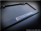 Supercharged Black License Plate Frame