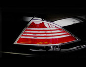 Mercedes S-Class Taillight  Chrome Trim Finisher set  2000-2006