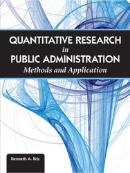 Quantitative Research in Public Aministration: Methods and Application (Kenneth A. Kriz) - physical book