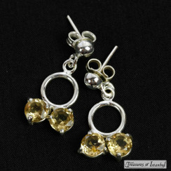 Citrine earrings - 008
