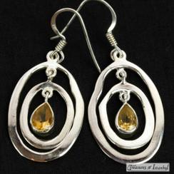 Citrine earrings - 010