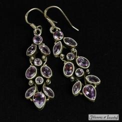 Amethyst earrings - 024