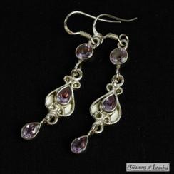 Amethyst earrings - 025