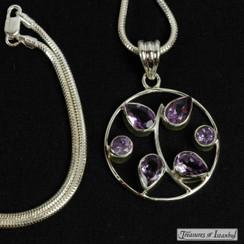 Amethyst pendant - 028