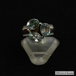 Blue topaz ring - 048