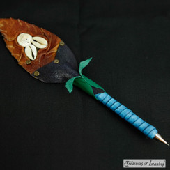 Handmade leather pen - 003