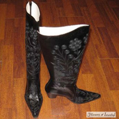 Hand Embroidered Leather Boots 001