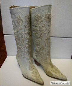 Hand Embroidered Leather Boots 002