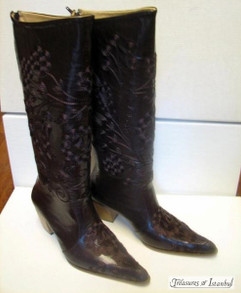 Hand Embroidered Leather Boots 003