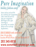 Pure Imagination Holiday Fashion Camp - Fall 2017