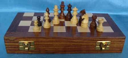 Magnetic Travel Chess Set folded