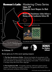 Roman's Chess Labs:  17, Unbeatable Secret Weapons for Black DVD
