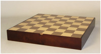 "13.5"" Walnut Chess Board with Chest"