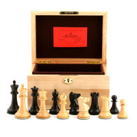 "Jaques of London - 1930 Edition 3.5"" Chess Set in Oak Box"