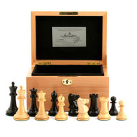 """Jaques of London - 1930 Edition 3.5"""" Chess Set in Beech Box"""