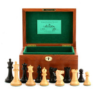 "Jaques of London - 1930 Edition 3.5"" Chess Set with Mahogany Box"