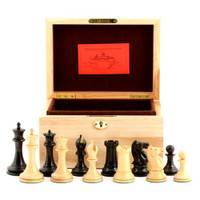 "Jaques of London - 1853 Edition 3.5"" Chess Set in Oak Box"