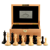 "Jaques of London - 1853 Edition 3.5"" Chess Set in Beech Box"