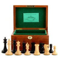 "Jaques of London - 1853 Edition 3.5"" Chess Set in Mahogany box"