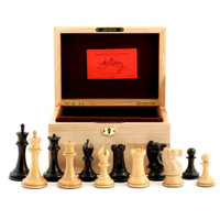 "Jaques of London - 1855 Edition 3.5"" Chess Set in Oak Box"