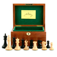 "Jaques of London - 1855 Edition 3.5"" Chess Set in Mahogany Box"