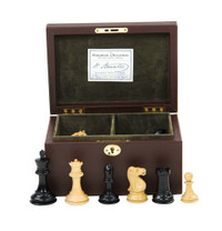 "Jaques of London - 4"" King Chessmen in Leather Box"