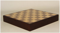 "16.25"" Walnut Chess Board with Storage Chest"