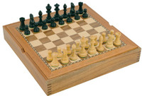 "Jaques of London - 15"" Combination Board and Chess Set"