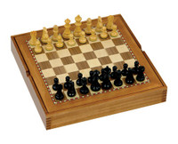 "Jaques of London - 15"" Chess Set, Board & Draughts"
