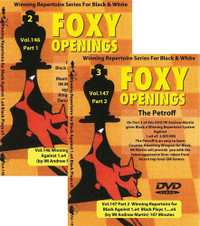 Foxy Chess Openings,  146 & 147: Winning Repertoire for Black with 1.e4 e5 (Parts 1&2)