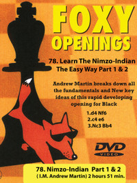 Foxy Chess Openings: Learn the Nimzo-Indian The Easy Way Part 1 & 2 DVD