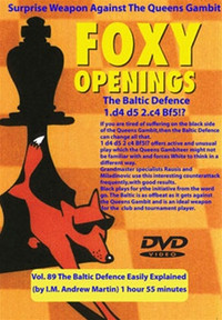 Foxy Chess Openings,  89: The Baltic Defense Easily Explained DVD