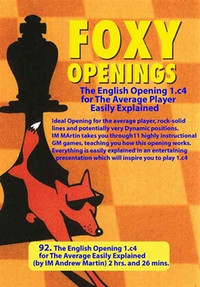 Foxy Chess Openings, Vol. 92: The English Opening for the Average Player  Chess Download