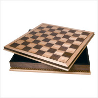 "20"" Wood Chess Board with Storage"
