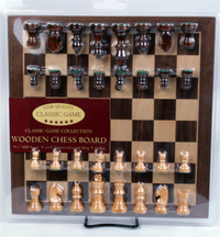 Classic Collection - Wooden Chess Board and Chess Pieces