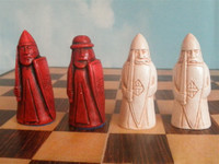 Isle of Lewis Chessmen in Red